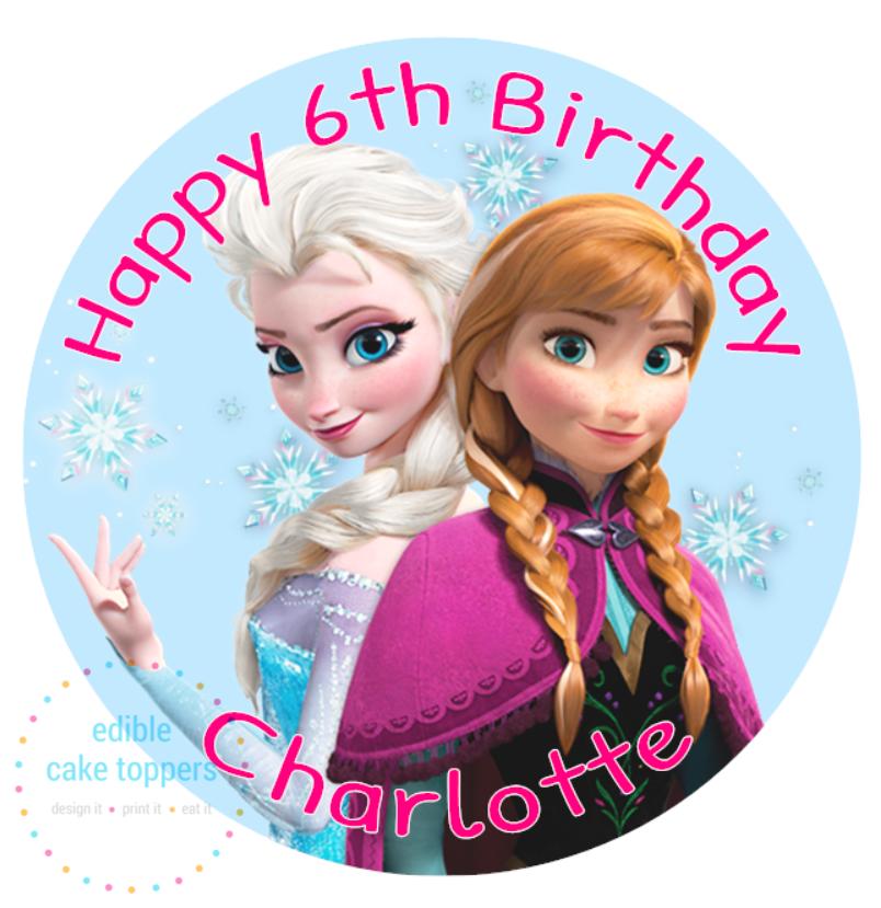 Frozen Elsa and Anna Cake Topper