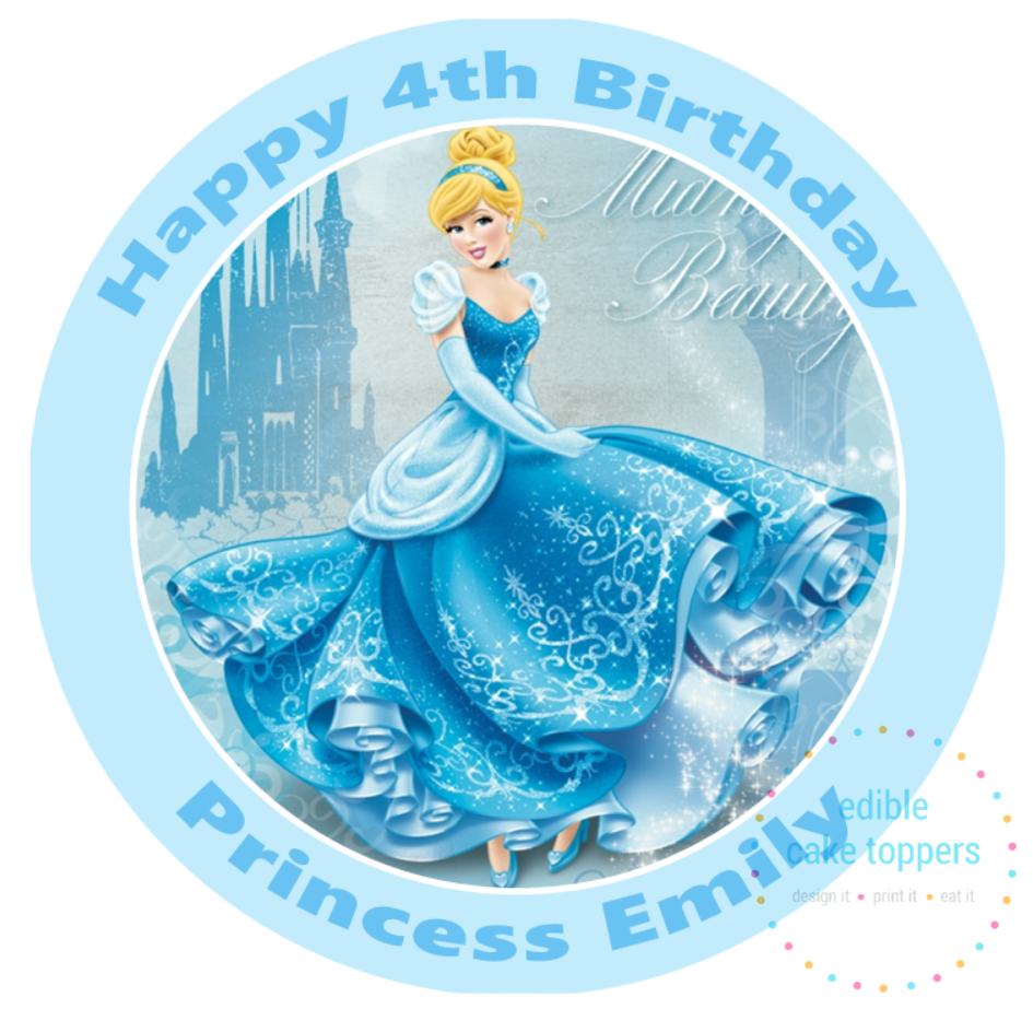 Happy Birthday Cake Topper Toppers Pre-Cut Disney Princess Icing SELECT