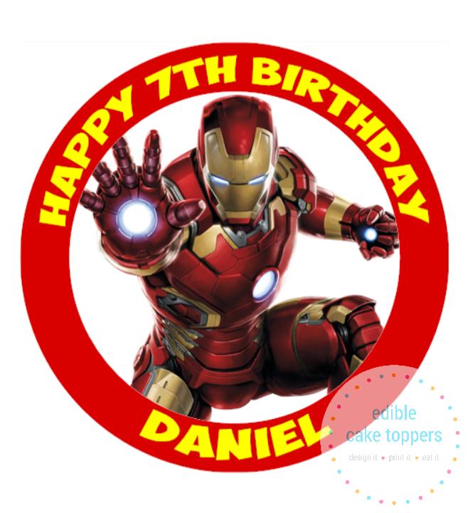 30 Iron Man Avengers stickers 1.5 round