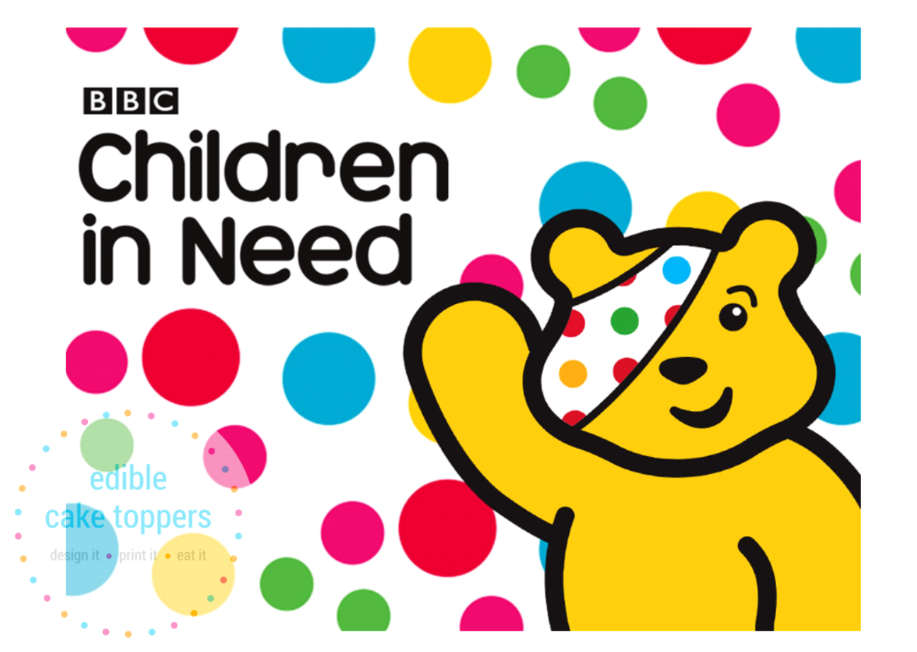 "7.5/"" Children in Need Pudsey Bear  PRE-CUT ICING DISC Cake Topper"