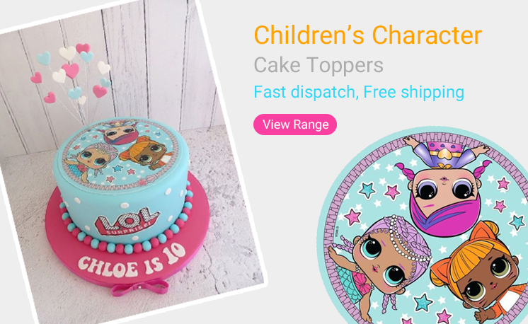 Excellent Edible Cake Toppers Personalised To Order Personalised Birthday Cards Cominlily Jamesorg
