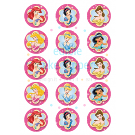 graphic about Disney Princess Cupcake Toppers Free Printable identified as Disney Princess Belle Edible Cake Toppers and elegance and the