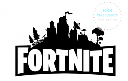 Fortnite logo Edible Wafer Icing Cake Topper